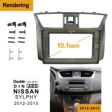 2/1Din Car DVD Frame Audio Fitting Adaptor Dash Trim Facia Panel 10.1inch For NISSAN SYLPHY 2012-2015 Double Din Radio Player