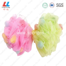 baby bath flower bubble mesh sponge