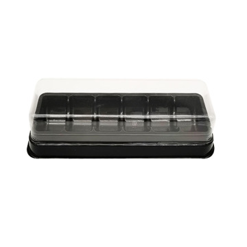 Custom 6 Compartment Macaron Blister Insert Trays Pack