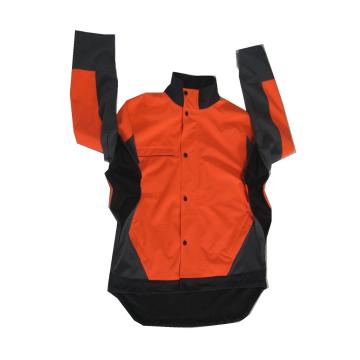 Orange mens outdoor windproof softshell jacket