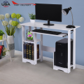 Modern Computer Desk Workstation Study Writing Table Home Office Furniture With Keyboard Bracket Pc Metal #3