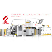 Three-Layer Automatic Swing Arm High-speed Stretch Film Machine