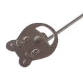 Funny bear-shaped bbq branding iron