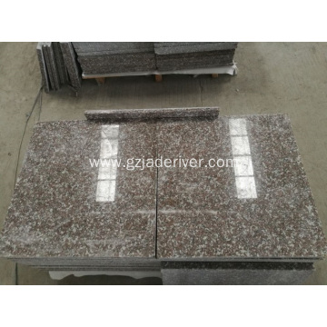 Yaɗa Red Sturdy Granite Slab Tile Wholesale