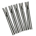 Black and white stripe nylon separating zipper