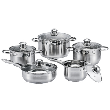 10 Pieces Stainless Steel Kitchen Pot Set
