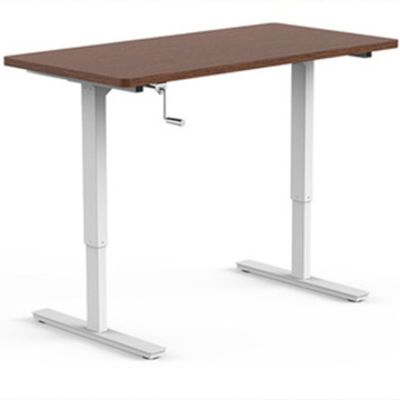 Hand Crank Height Adjustable Manual Lift Standing Desk