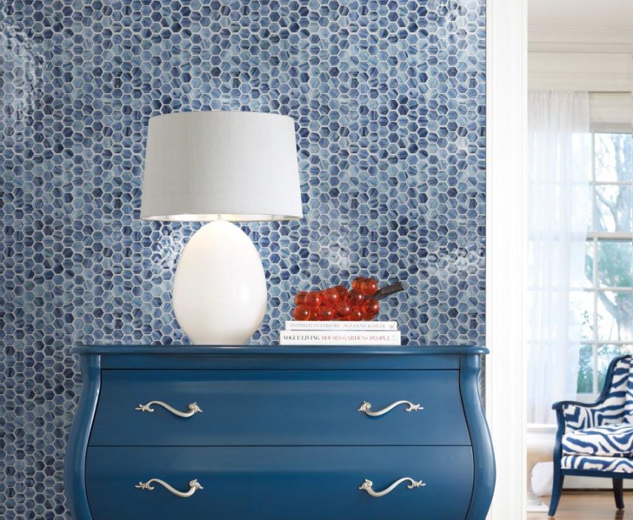 Living Room Glass Mosaic Wall Tiles