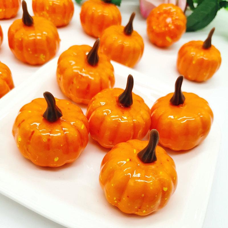 1/20pcs Halloween Mini Artificial Pumpkin Fake Simulation Vegetable Happy Halloween Decoration For Home Halloween DIY Crafts