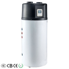 External refrigerant coil air source heat pump