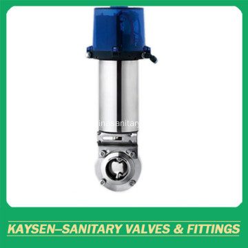 DIN Food Grade Intelligent Pneumatic Butterfly Valve Welded