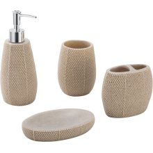 Home Decoration Polyresin Bathroom Accessories 4PCS
