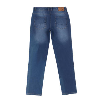 Popular Men's 96% Cotton 4% Spandex Knitted Jeans