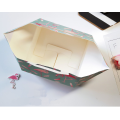 Square bakery food box packaging with handle