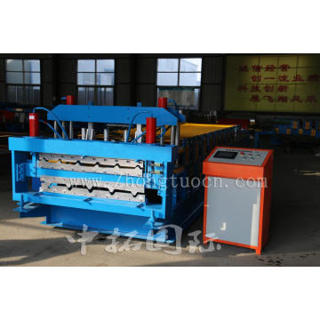 Color Glazed Trapezoidal Tile Sheet Double Layer Machine