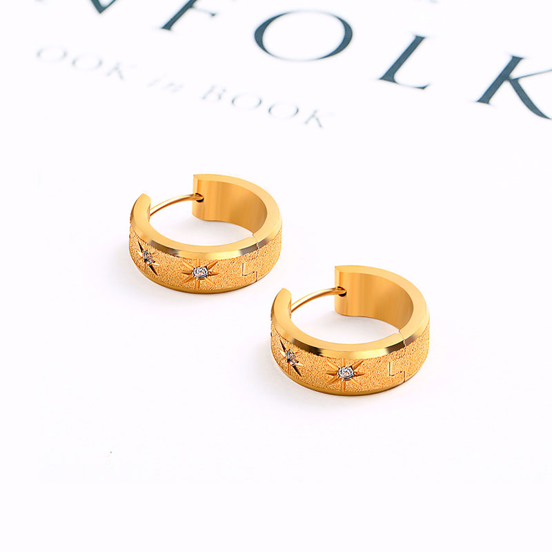 Stainless Steel Tiny 18k Gold Hoop Earrings