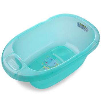 H8395 Plastic Medium Size Transparent Baby Soaking Bathtub