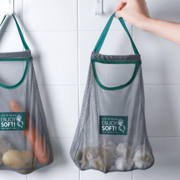 Reusable Mesh Fruit And Vegetable Bag Washable Storage Bag Hanging Bag Kitchen Accessories Mesh Bag Portable Shopping Bag