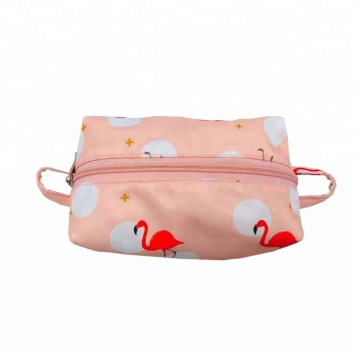 Sublimation Cute Pink Animals Pattern Printed Travel Cosmetic Bag Case