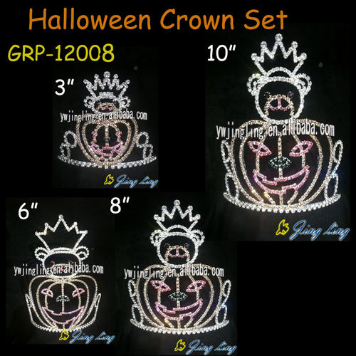 Group Of Pumpkin Halloween crowns