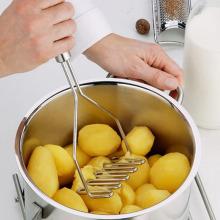 new Stainless Multifunction Potato Ricer Egg Masher Mould Vegetable Fruit Crusher Kitchen Tool