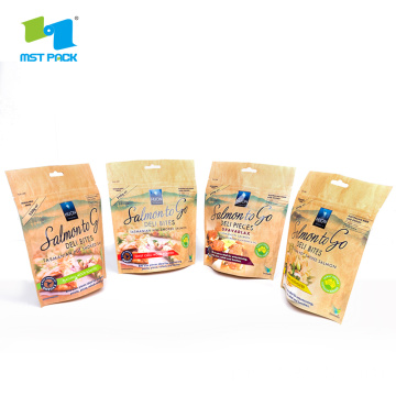 Kraft Paper Printing Stand Up Pouch Food Bag
