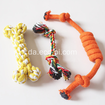 Candy Colour Cotton Rope Dumbbell Pet Legetøj