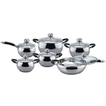 Economic apple shape 12pcs casserole set