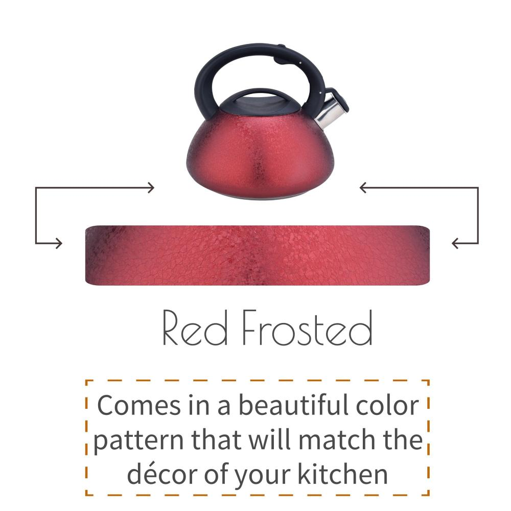 Red Whistling Stovetop Water Kettle
