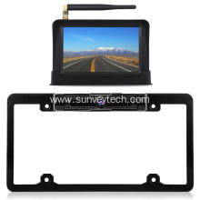 License Plate Frame Camera with Screen 5inch