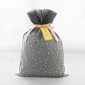 Grey Daily No-woven Drawstring Gift Packaging Bag