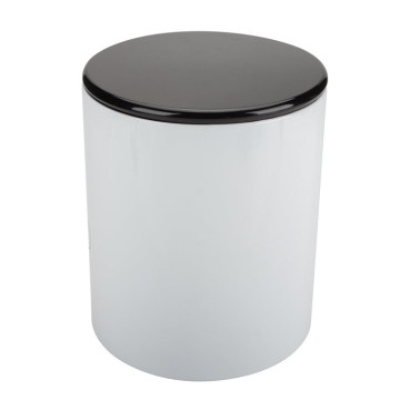 White Round Metal Bread Box