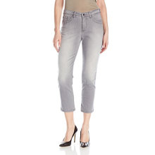 Women's Cotton Spandex Capris Jeans Grey
