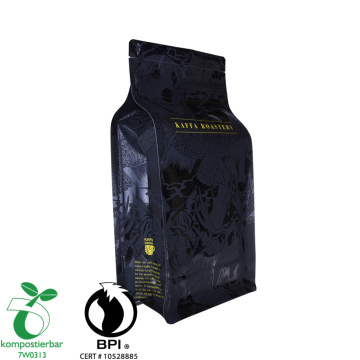 Eco friendly flat bottom coffee bags Bio pack