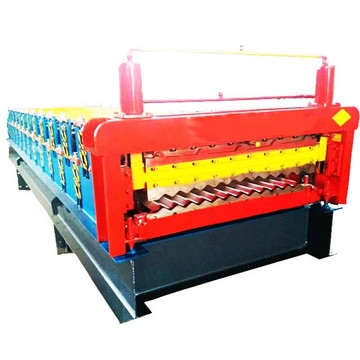 high quality double trapzoidal sheet roll forming machine