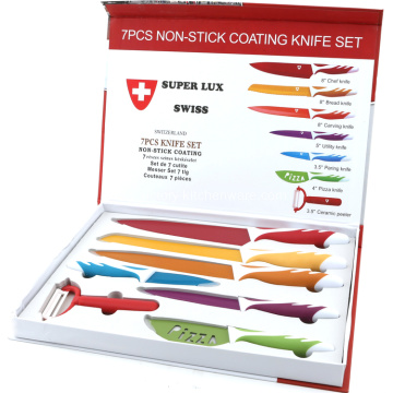 7pcs Non-stick coating knife set