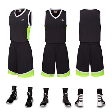 100% polyester sneldrogend basketbaluniform