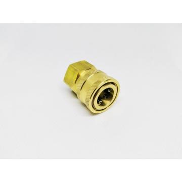 "Pressure Washer 3/8""Female NPT-F Quick Connect Brass Coupler"