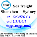 Shenzhen Sea Freight Shipping Services to Sydney