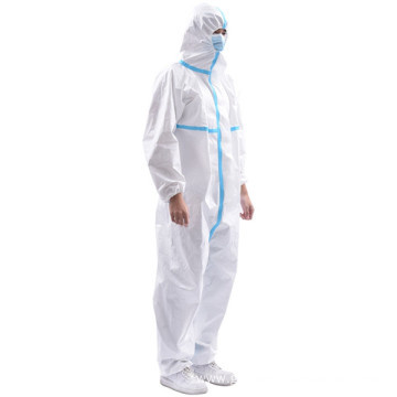 Disposable Ppe Chemical Resistant Tape Hazmat Suit Coveralls