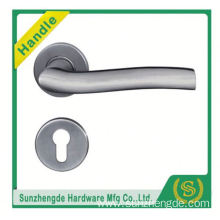 SZD Glossy polished Euro Stainless steel hollow door lock handle with plate
