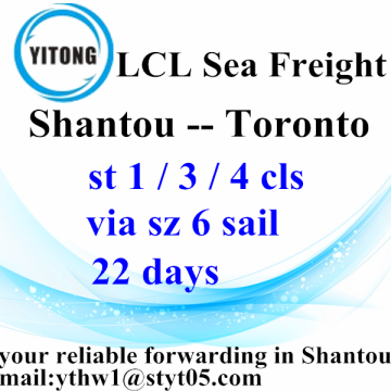Shantou Shipping Forwarder sea freight to Toronto