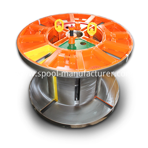 collapsible reel coiling lifting system