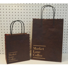 Black handle coffee paper bag