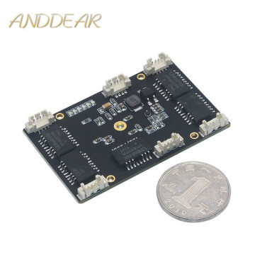 ANDDEAR Industrial switch Customized industrial 5 port 10/100M unmanaged network ethernet switch 12v pcba module network switch