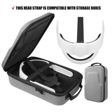 5in1 NEW K3 Elite Head Strap Comfort Foam Pad+Hard EVA Travel Carry Case Bag for Oculus Quest 2 VR Travel Case Accessories Set