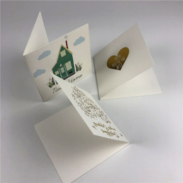 Special Texture Paper Custom Handwring Greeting Gift Card
