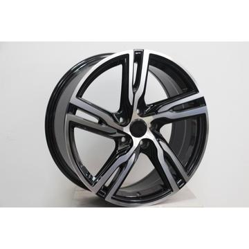 Black Machine Face 5spoke Double Lip wheel rim