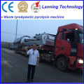 latest waste rubber pyrolysis machine