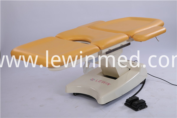 yellow gyn bed